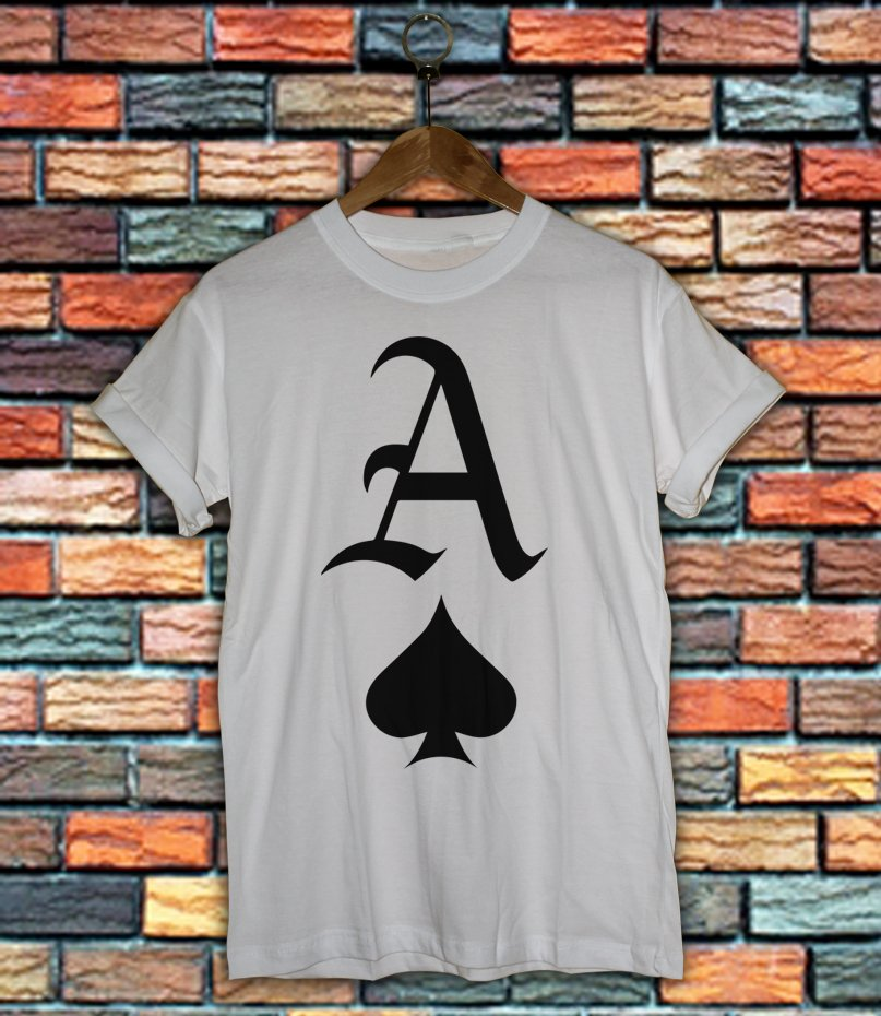 ACE OF SPADES PRINTED Shirt MONEY SWAG HIPSTER FRESH DOPE HYPE PRINT TOP A01