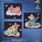 Janlynn 167-0200 &quot;Bedtime Bear Trio&quot; Counted Cross Stitch Kit