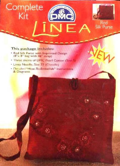 Linea Complete Kit 'Red Silk Purse' handbag DMC Creative World