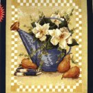 DMC Needlepoint Canvas Pattern &quot;Magnolias and Pears&quot; Pearl cotton Tapestry wool embroidery floss