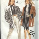 New Look Sewing Pattern 6596 Misses Size 8-20 Swing style Jacket