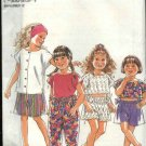 New Look Sewing Pattern 6726 Girls Size 3-8 Summer Tops Shorts Pants