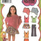 Simplicity Sewing Pattern 4522 Toddlers Girls Size ½-1-2 Wardrobe Skirt Poncho Top Pants