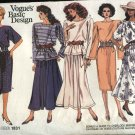 Vogue Sewing Pattern 1831 Misses Size 8-12 Basic Dress Skirt Top