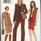 Vogue Sewing Pattern 7502 Misses Size 8-12 Jacket Vest Skirt Pants Wardrobe