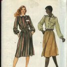 Vogue Sewing Pattern 8077 Misses Size 10 Front Wrap Skirt Blouse Top Shirt