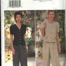Butterick Sewing Pattern 4004 Misses Size 6-10 Easy Button Front Top Pants Donna Ricco