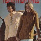 Columbia-Minerva Fisherman Knits  #2534 Men Misses Sweaters Knitted