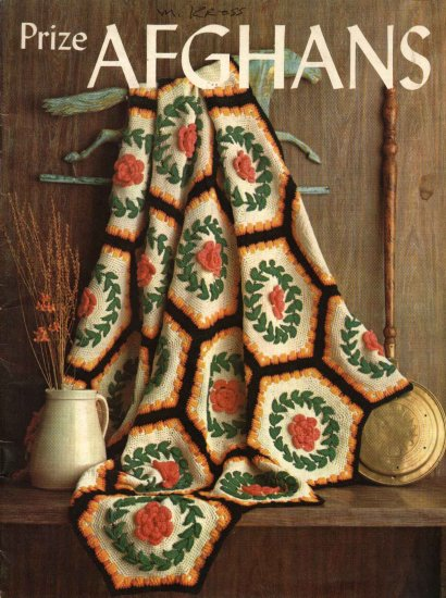 Prize Afghans Booklet Knitted Crocheted