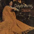 Bernat # 190 Daydreams Eight Afghans Crochet Knit Patterns Yarn