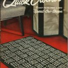Vintage J & P Coats #300 Quick Crochet 21 Easy Projects Speed-Cro-Sheen Rugs pillows bags slippers