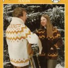 Polar Bouquet 'Aron' Cardigan Sweater Pattern Adults Mens Misses