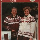 Polar Bouquet 'Arni' Cardigan Sweater Pattern Adults Mens Misses