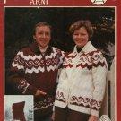 Polar Bouquet 'Arni' Cardigan Sweater Pattern Adults Mens Misses