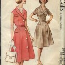 Vintage 1961 McCall's Pattern 5762 Size 16 Misses Button Front Shirtwaist Dress