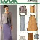 New Look Sewing Pattern 6220 Misses Size 6-16 Formal Long Straight Flared Skirt Jacket Tops