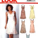 New Look Sewing Pattern 6244 Misses Size 8-18 Summer Sundress Slip Dress V-neck Dresses