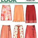 New Look Pattern 6274 Size 8-18 Misses' Wrap fitted Skirts