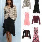 New Look Sewing Pattern 6402 Misses Size 6-16 Empire Waist Sleeveless Dress Jacket