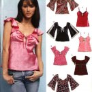 New Look Sewing Pattern 6408 Misses Size 6-16 Pullover Raised Waist Tops Camisole