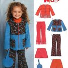 New Look Pattern 6423 Girls Size 3-8 Jacket Pant Skirt Purse