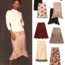 New Look Sewing Pattern 6433 Misses Size 8-18 Easy Flared Ruffled Fitted Skirts
