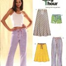 New Look Sewing Pattern 6494 Misses Size 10-22 Easy 1 Hour Skirt Pants Shorts