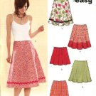 New Look Sewing Pattern 6496 Size Misses Easy 8-18 Flared Gored Godet Skirts Mini-skirts