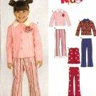 New Look Sewing Pattern 6529 Girls' Size 3-8 Jacket Pants Vest