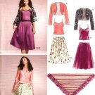 New Look Sewing Pattern 6532 Misses Size 8-18 Camisole Top Skirt Bolero Shawl