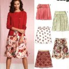 New Look Sewing Pattern 6539 Misses Size 6-16 Easy Skirts Yoke Pleats Gathers Overlay