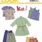 New Look Sewing Pattern 6931 Size 3-8 Child's Boys Girls Pajamas  Robe Tops Pants Shorts