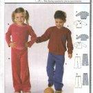 Burda Sewing Pattern 9783 Children's Girls Boys Size 3-10 Easy Sweatshirt Pants