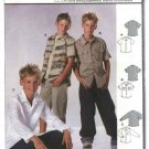Burda Sewing Pattern 9786 Boys size 11-16 Button Front Shirts