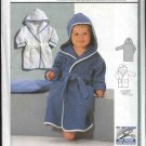 Burda Sewing Pattern 2640 Size Child's Boys Girls 3 month-2 year Hooded Bathrobe