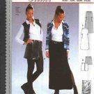 Burda Sewing Pattern 2862 Misses Size 8-18 Easy Long Skirt Mini-skirt