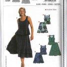 Burda Sewing Pattern 8069 Misses Size 6-18 Easy 2-piece Dress Top Ruffled Skirt