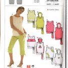 Burda Sewing Pattern 8225 Misses Size 10-22 Easy Hooded Shirts  T-Shirts