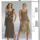Burda Sewing Pattern 8340 Misses Size 6-18 Easy Fitted Skirts Godets Slits