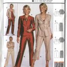 Burda Sewing Pattern 8375 Misses Petite Size 6-20 Easy Jacket  Pants Suit