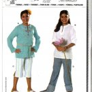 Burda Sewing Pattern 9689 Size 7XL-14XL Girls Plus Easy Tunic Pants Capris