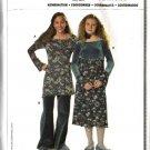 Burda Sewing Pattern 9721 Size 7-14jr Junior Easy Empire Dress Tunic Top Bell Bottom Pants