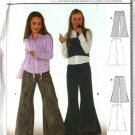 Burda Sewing Pattern 9818 Size 8-13jr Junior Girls  Flared Bell bottom Pants
