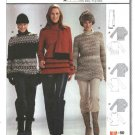 Burda Sewing Pattern 8430 Misses Sizes 12-24 Easy Knit Pullover Tops tunics Scarf