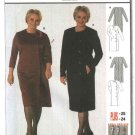 Burda Sewing Pattern 8586 Petite Misses Size 10-24 Easy Button Front Dress