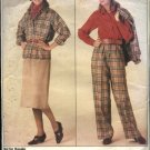 Vogue Sewing Pattern 0995 Misses Size 8-10-12 Retro Jacket Skirt Pants Top