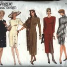 Vogue Sewing Pattern 1010 Misses Size 6-8-10 Basic Basic Straight Dress
