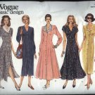 Vogue Design Sewing Pattern 1149 Misses Sizes 6-8-10 Easy Button Front Dress