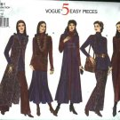 Vogue Sewing Pattern 1291 Misses Size 6-8-10 Easy Duster Top Dress Skirt Pants