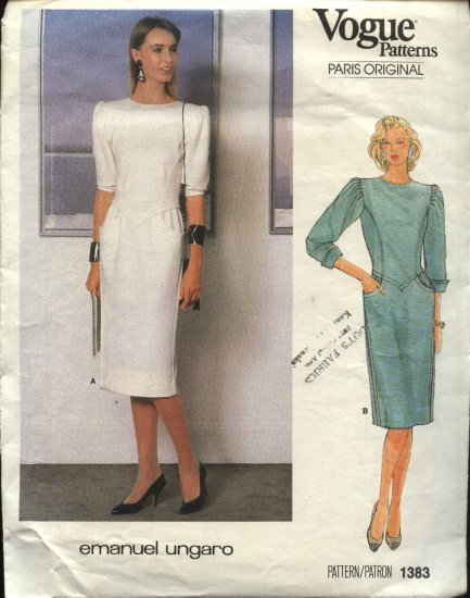 Vogue Sewing Pattern 1383 Misses Size 10 Paris Original  Emanuel Ungaro Dress